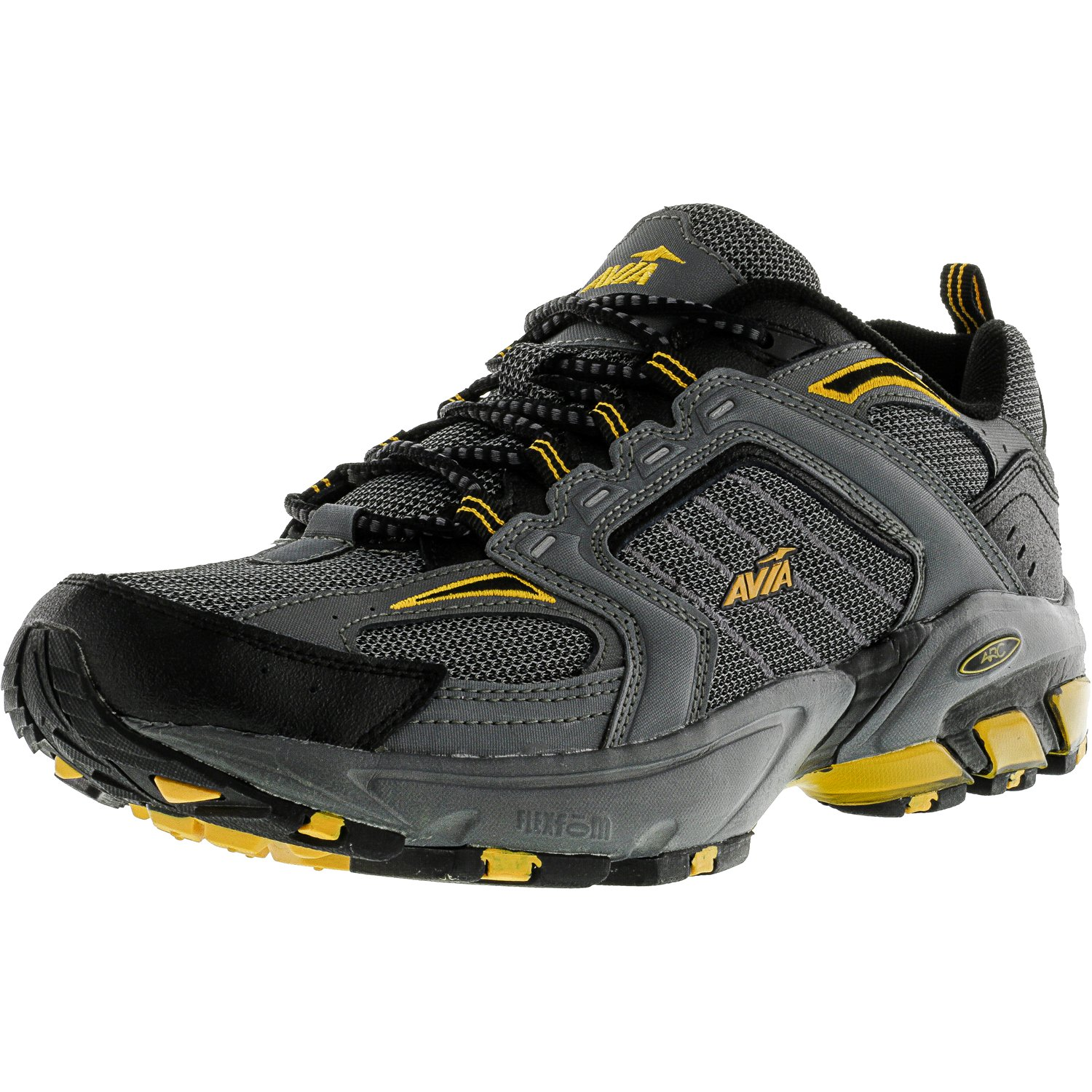 a5e9f9af4990 Avia A6028 Men s Gray Black Yellow Athletic Hiker Sneakers Shoes