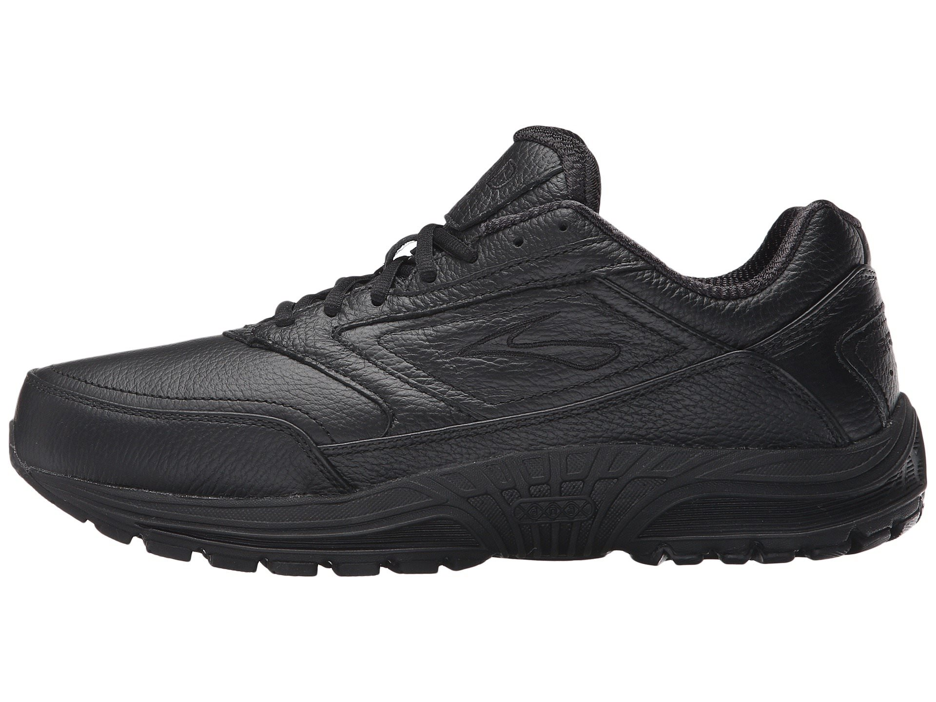 Brooks Dyad Walker Men's ... schwarz Leder Walking Athletic Sneakers ... Men's 90be3d