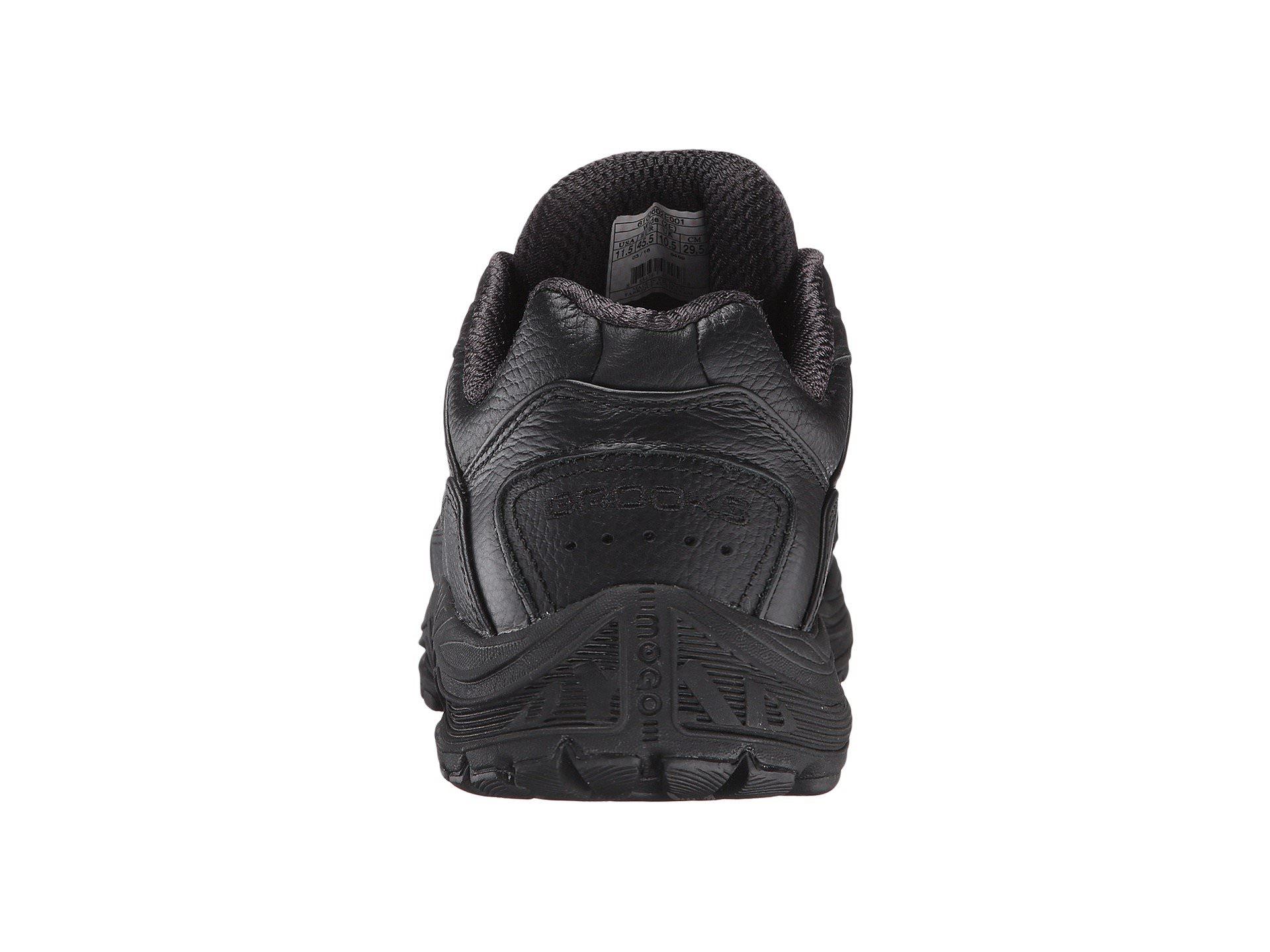 3cde52af3e701 Brooks Dyad Walker Men s Black Leather Walking Athletic Sneakers ...