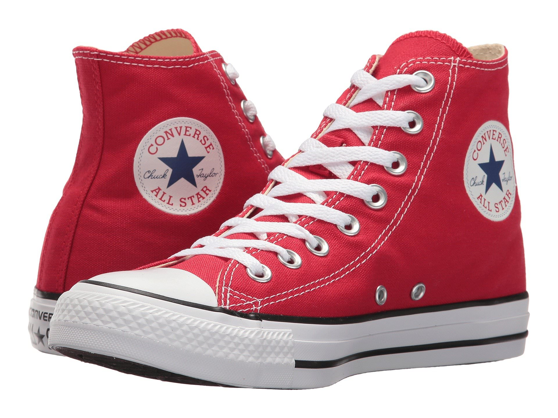 f8dfcf1c1898 Converse CHUCK TAYLOR ALL STAR Unisex Red Canvas High Top Sneaker ...