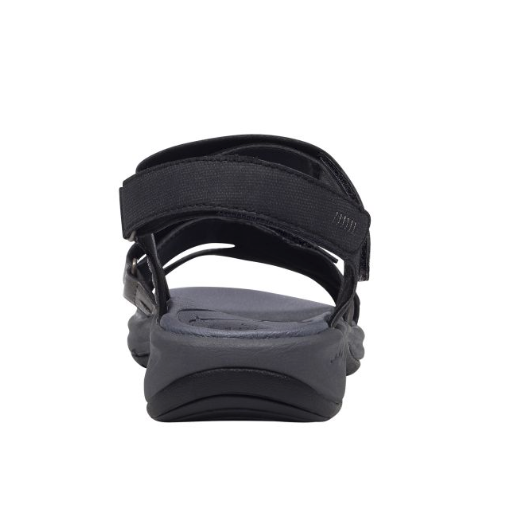 a7d16287546234 Easy Spirit ESTINA Womens Black Flat Comfort Sandals
