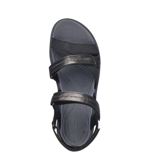 a7d16287546234 Easy Spirit ESTINA Womens Black Flat Comfort Sandals