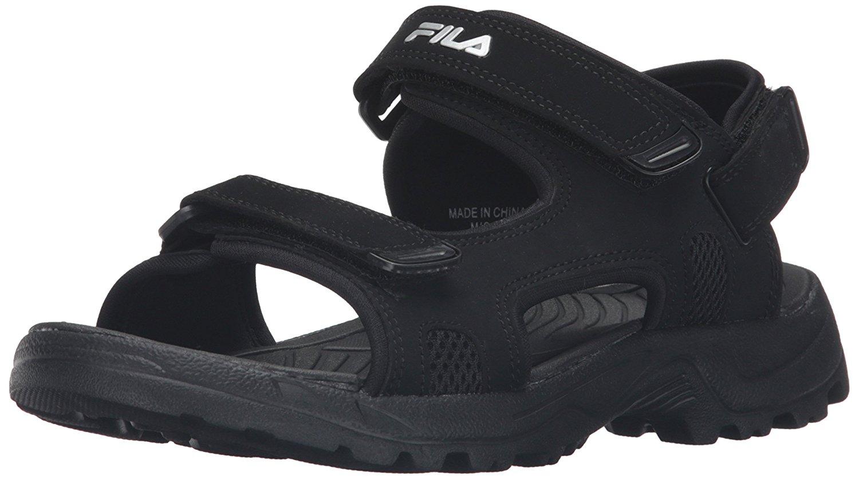 Fila Casual Strap Black On Comfort Transition Men's Slip Sports 0mN8nw