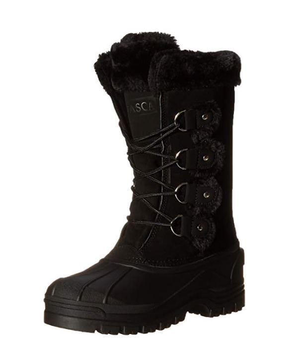 284d4c692f95 Details about Itasca Marais Women s Black Suede Waterproof Insulated Winter  Snow Boots