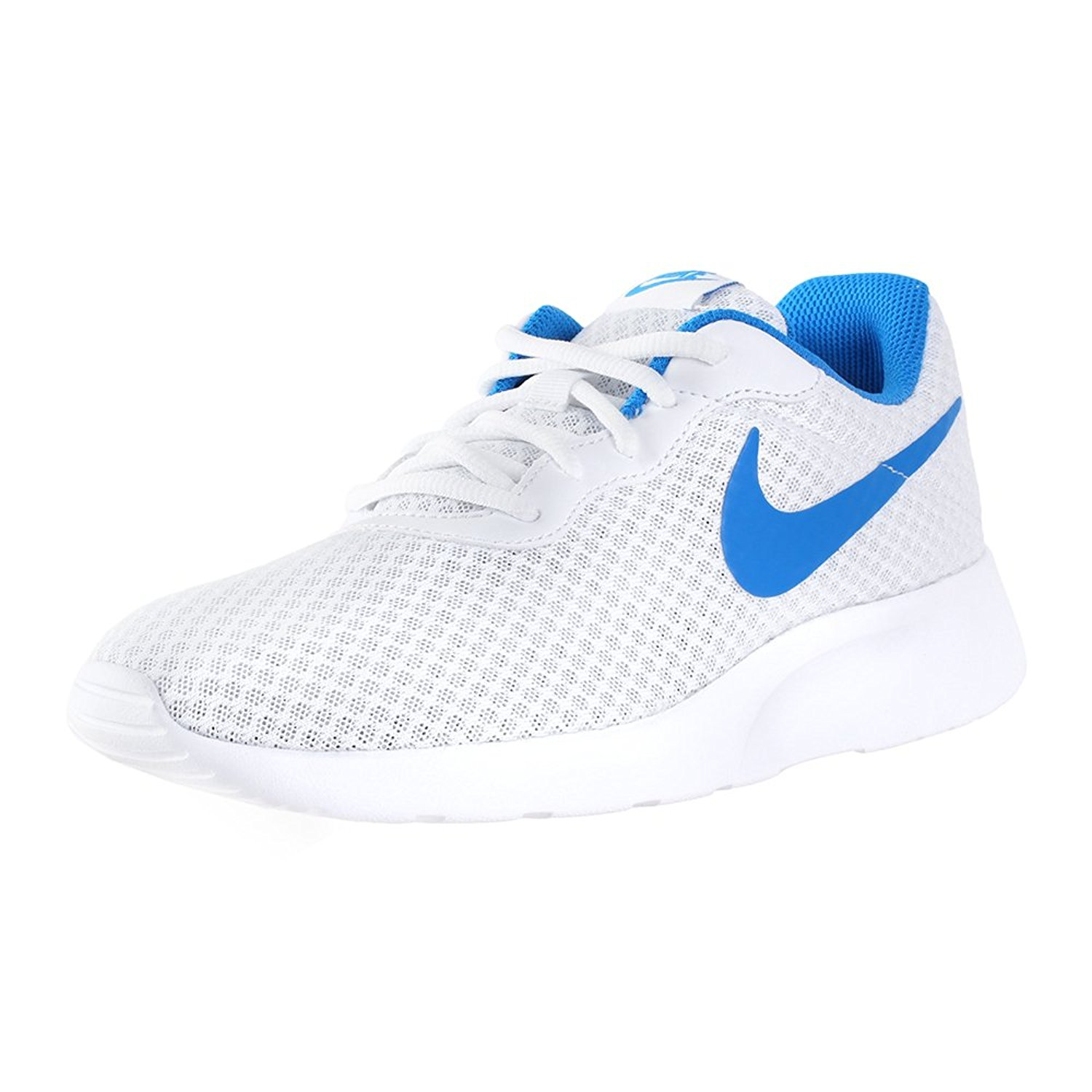 274adfc7a75 Nike Tanjun Mens White Blue Athletic Comfort Casual Fashion Sneaker ...