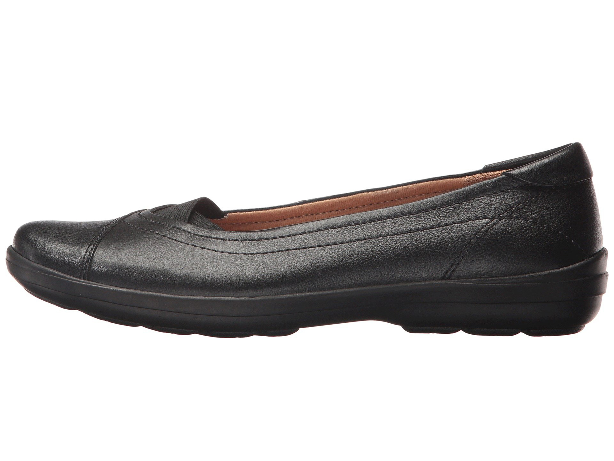 49e0557bb Comfortiva Women's Renee Black Leather Casual Comfort Flats Shoes | eBay
