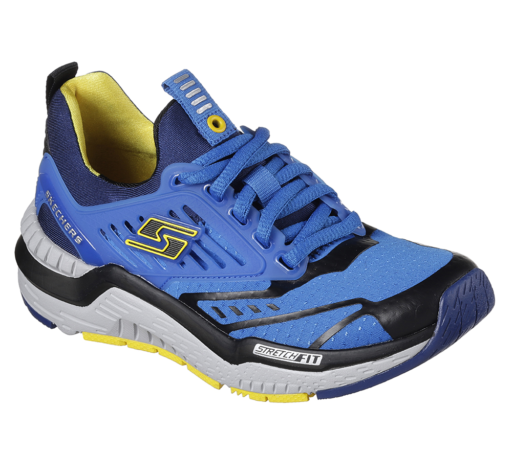 9cce18433096 Skechers HYPERJOLT Boys Royal Blue Low Top Running Shoes