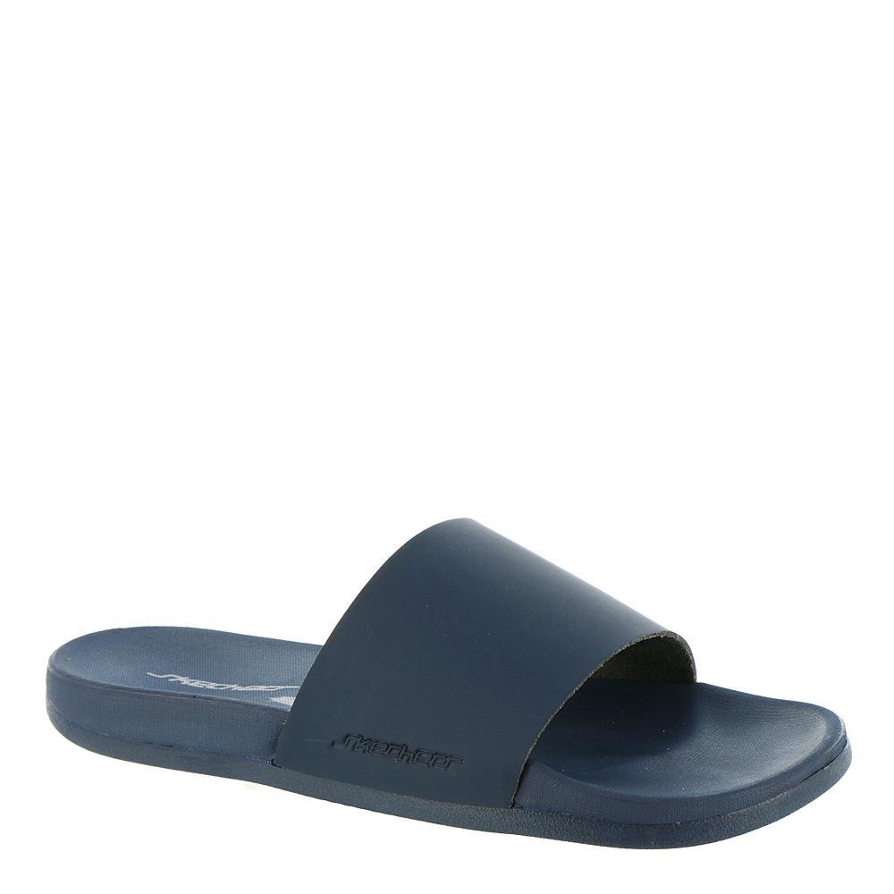 1faf2c91c99645 Skechers Gambix NEDDECK Mens Navy Blue Slides Slip On Shower Beach ...