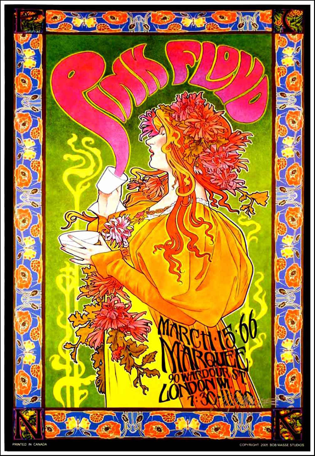 Pink Floyd Marquee Club Poster Mad Hatter S Tea Party