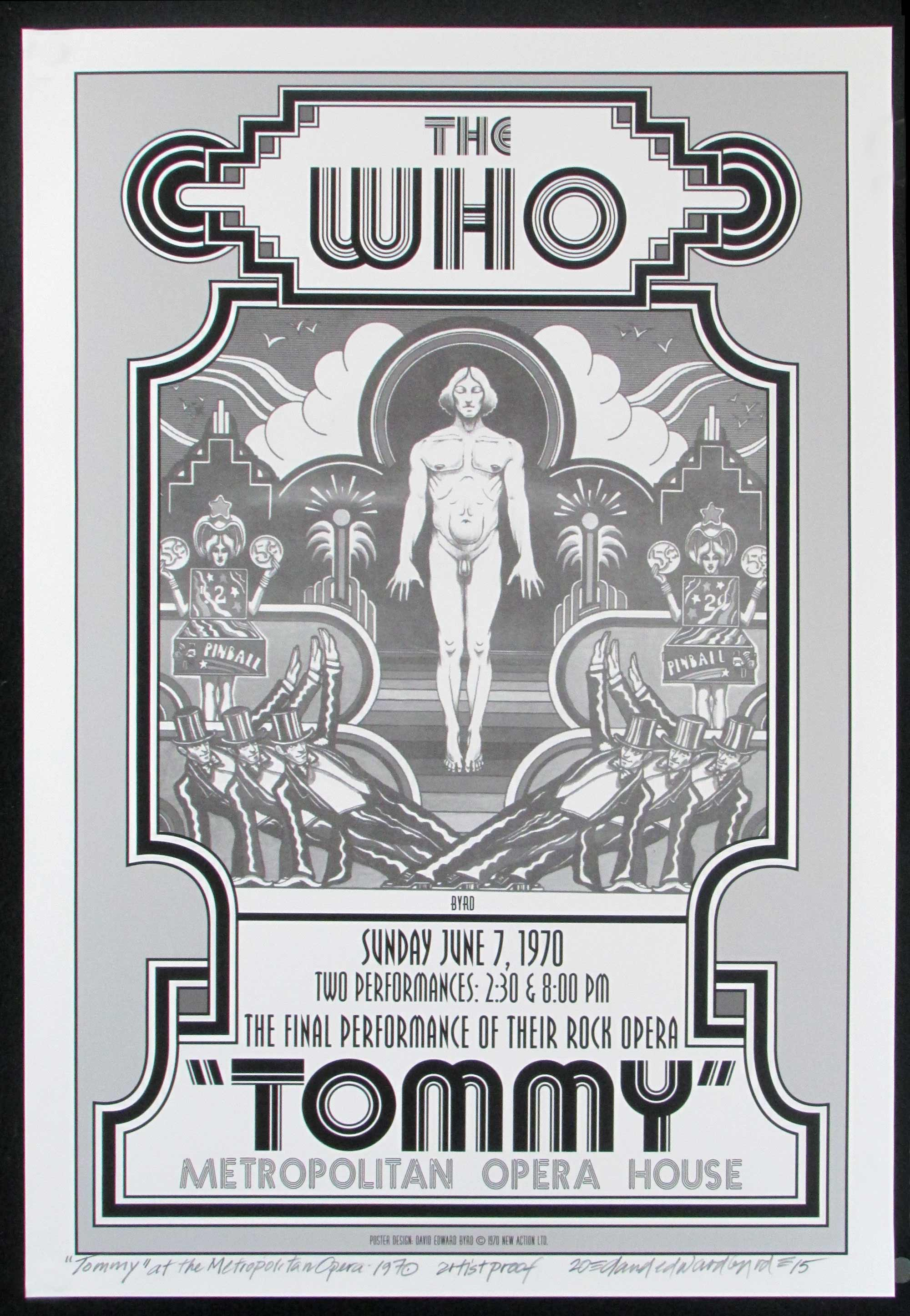 Tommy 1970 Broadway Show Full Size Poster New Artist Edit