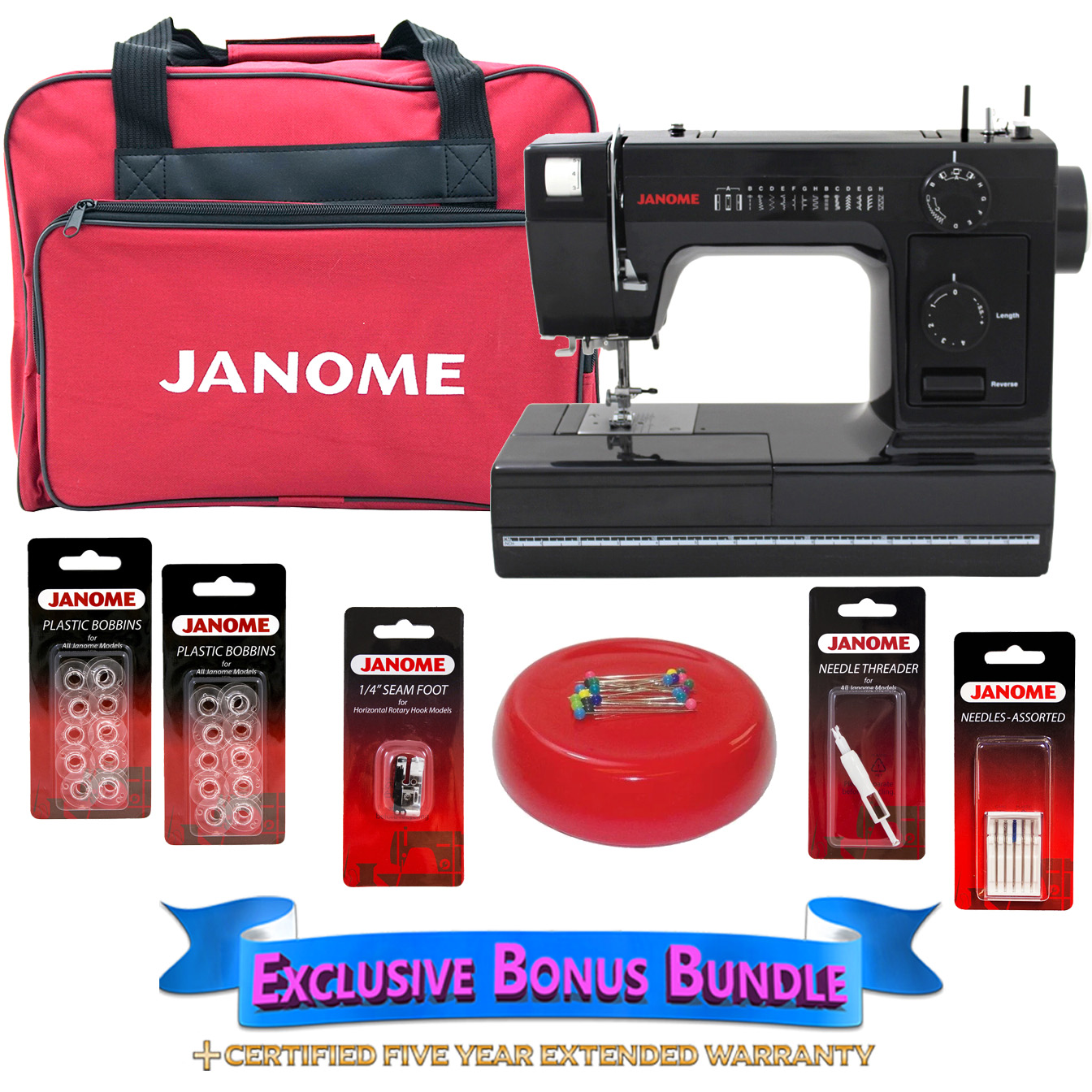 by Janome Janome HD1000 Mechanical Sewing Machine w// FREE BONUS Package