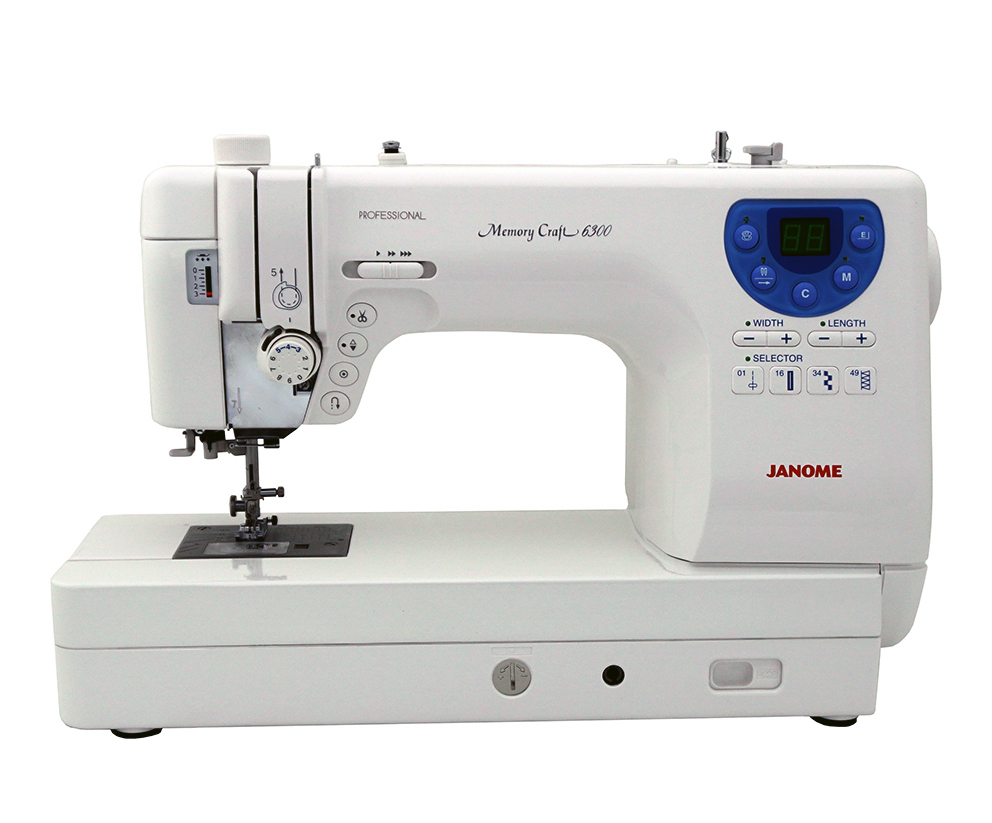 The Janome Memory Craft 6300 is not your usual home sewing machine. It is a  computerized dream machine for every type of sewist - from garments to  quilting ...