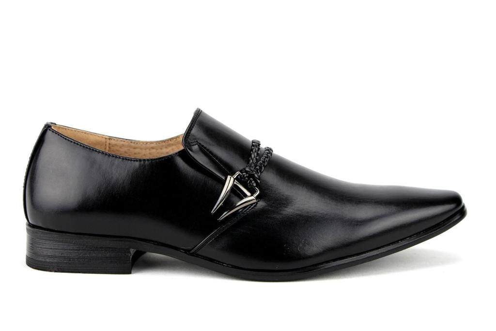 New-Men-039-s-98105-Classic-Slip-On-Pointy-Toe-Belted-Casual-Loafers-Dress-Shoes thumbnail 21
