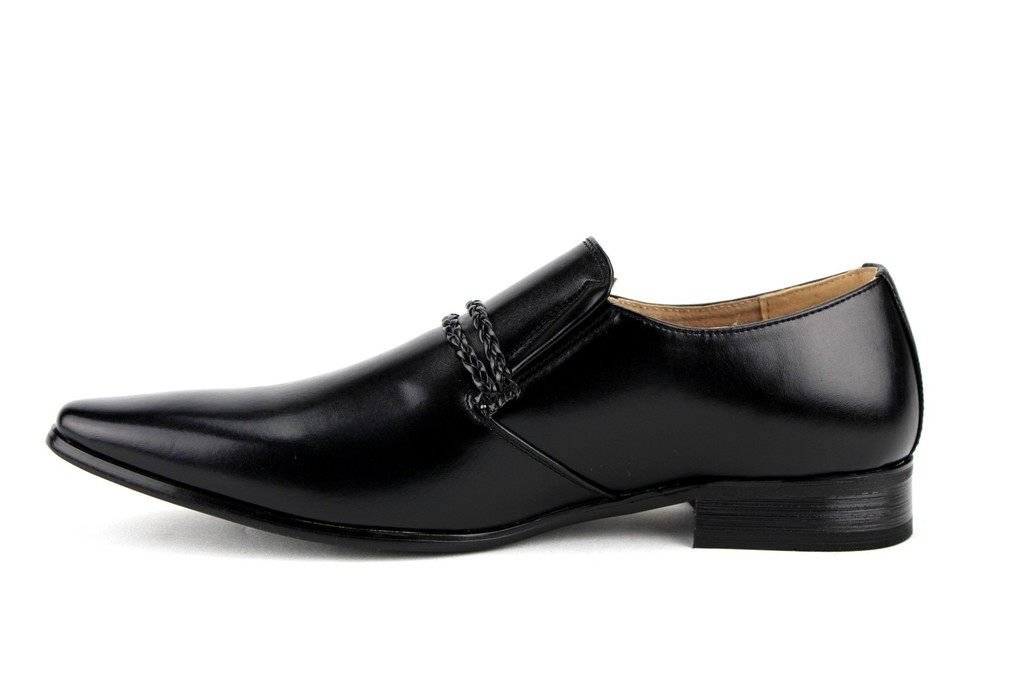 New-Men-039-s-98105-Classic-Slip-On-Pointy-Toe-Belted-Casual-Loafers-Dress-Shoes thumbnail 22