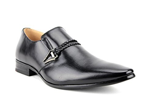 New-Men-039-s-98105-Classic-Slip-On-Pointy-Toe-Belted-Casual-Loafers-Dress-Shoes thumbnail 26
