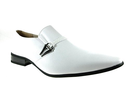New-Men-039-s-98105-Classic-Slip-On-Pointy-Toe-Belted-Casual-Loafers-Dress-Shoes thumbnail 16