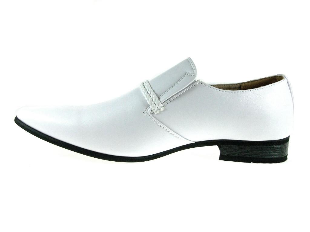 New-Men-039-s-98105-Classic-Slip-On-Pointy-Toe-Belted-Casual-Loafers-Dress-Shoes thumbnail 10