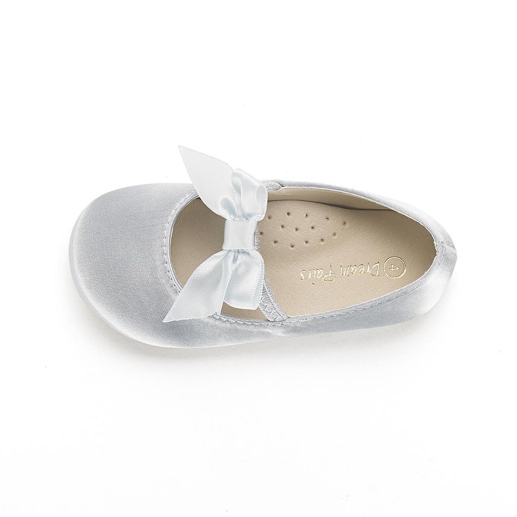 DREAM PAIRS Girls Mary Jane Front Bow Elastic Strap Ballerina Flat