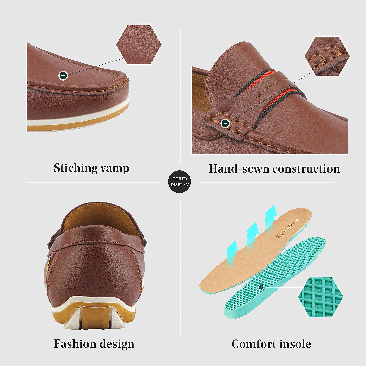 Bruno-Marc-Men-039-s-Casual-Loafers-Lightweight-Moccasins-Lazy-Driving-Soft-Shoes thumbnail 14