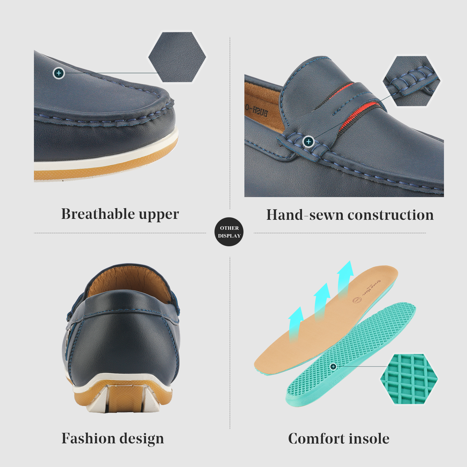 Bruno-Marc-Men-039-s-Casual-Loafers-Lightweight-Moccasins-Lazy-Driving-Soft-Shoes thumbnail 26