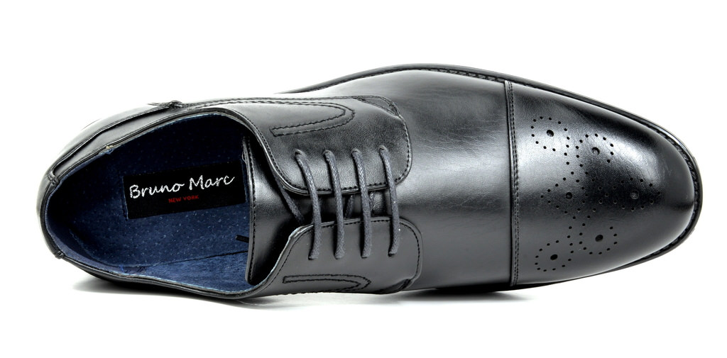 Bruno-Marc-Hommes-HALSTED-cuir-double-lacets-formel-Robe-Decontractee-derbies-chaussures miniature 5