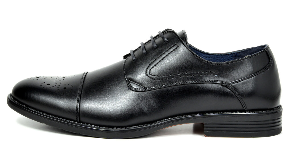 Bruno-Marc-Hommes-HALSTED-cuir-double-lacets-formel-Robe-Decontractee-derbies-chaussures miniature 3
