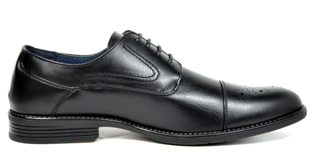 Bruno-Marc-Hommes-HALSTED-cuir-double-lacets-formel-Robe-Decontractee-derbies-chaussures miniature 4