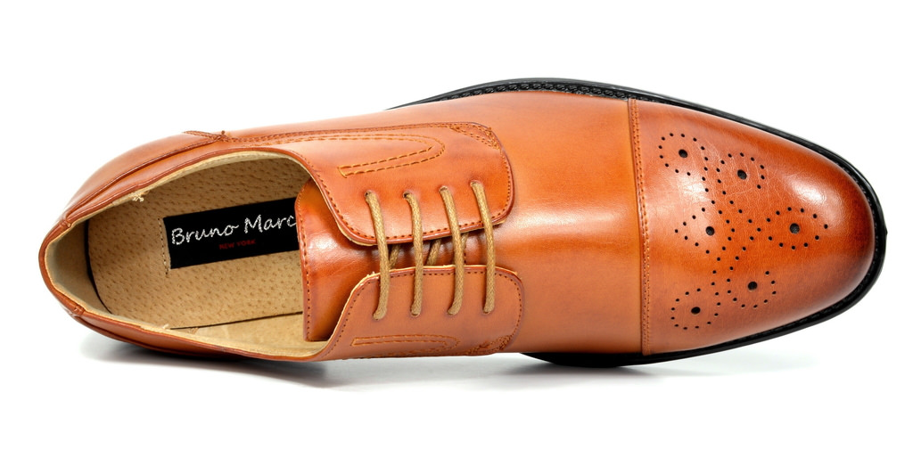 Bruno-Marc-Hommes-HALSTED-cuir-double-lacets-formel-Robe-Decontractee-derbies-chaussures miniature 10