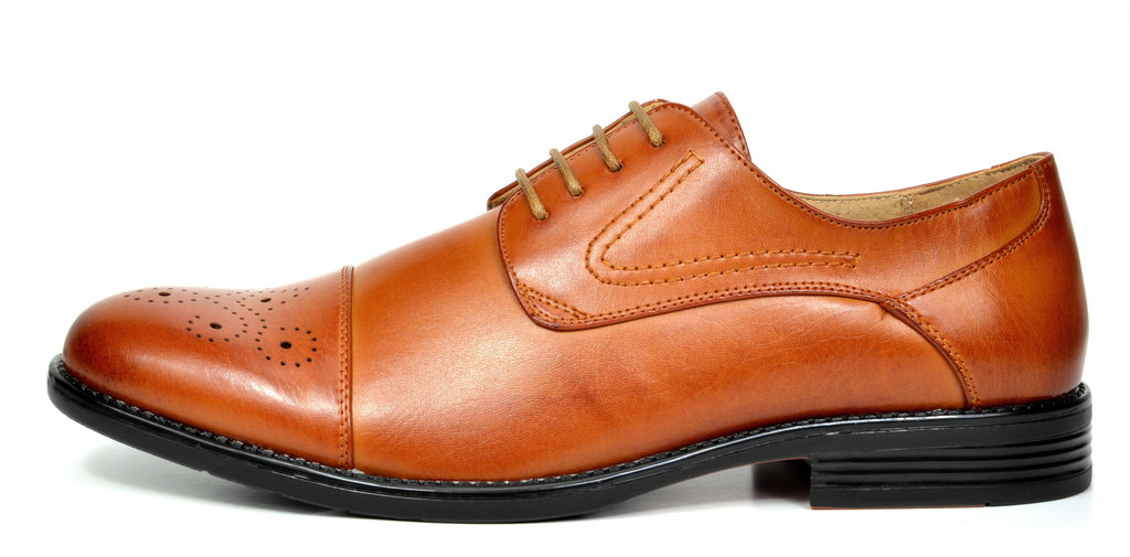 Bruno-Marc-Hommes-HALSTED-cuir-double-lacets-formel-Robe-Decontractee-derbies-chaussures miniature 8