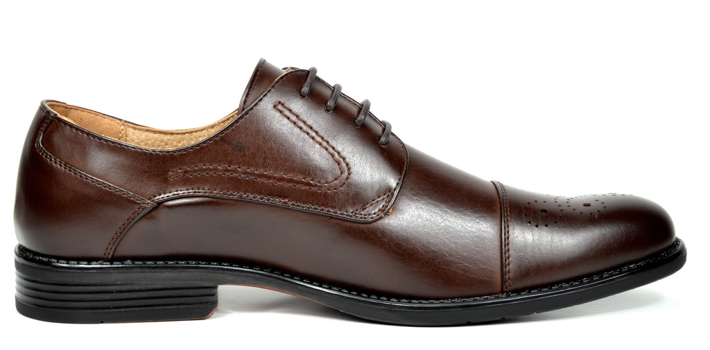 Bruno-Marc-Hommes-HALSTED-cuir-double-lacets-formel-Robe-Decontractee-derbies-chaussures miniature 13