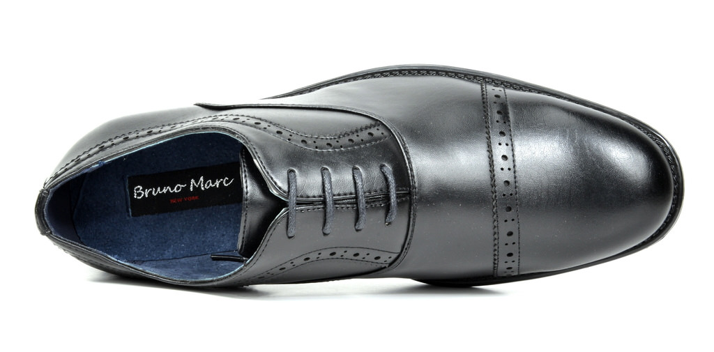 Bruno-Marc-Hommes-HALSTED-cuir-double-lacets-formel-Robe-Decontractee-derbies-chaussures miniature 16