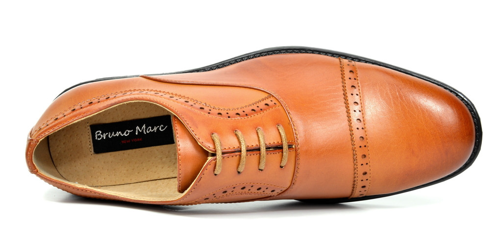 Bruno-Marc-Hommes-HALSTED-cuir-double-lacets-formel-Robe-Decontractee-derbies-chaussures miniature 22