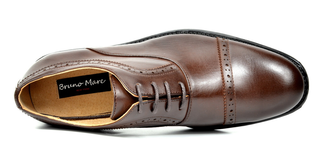 Bruno-Marc-Hommes-HALSTED-cuir-double-lacets-formel-Robe-Decontractee-derbies-chaussures miniature 27