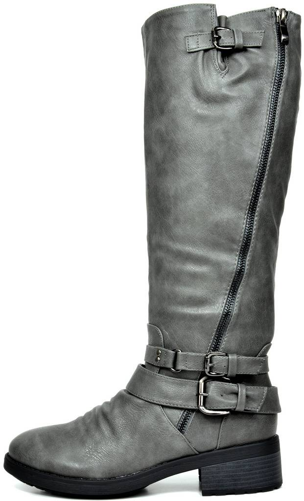 3128309f3a6 DREAM PAIRS Womens ATLANTA Knee High Faux Fur Riding Boots (Wide ...