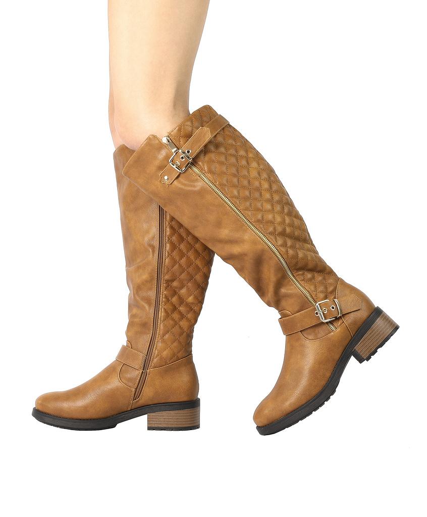 DREAM-PAIRS-Women-UTAH-Inner-Zipper-Knee-High-Riding-Boots-Wide-Calf-Available thumbnail 19
