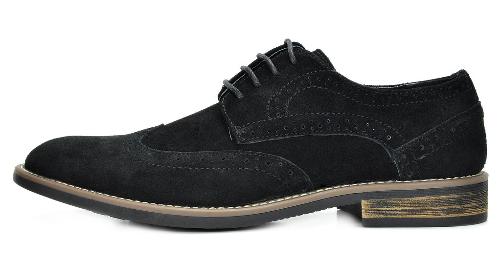 BRUNO-MARC-Fashion-Mens-Suede-Leather-Lace-up-Flats-Casual-Business-Oxford-Shoes thumbnail 6