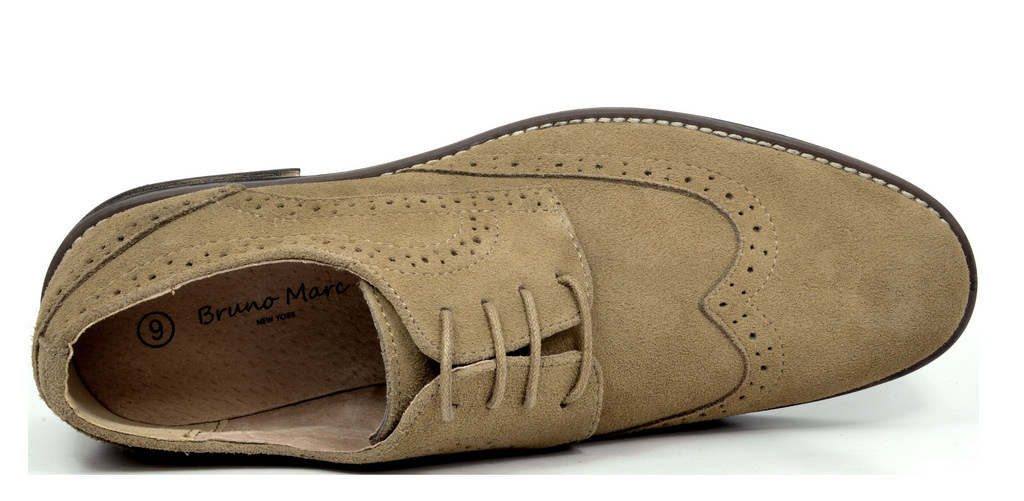 656866e3efc26 BRUNO MARC NEW YORK Mens Urban Suede Leather Lace up Flats Casual ...