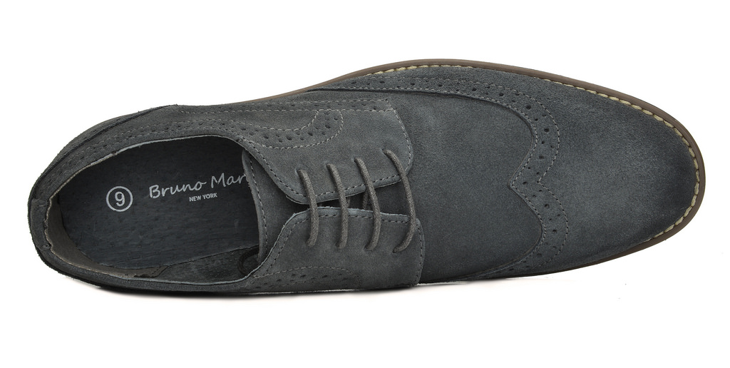 BRUNO-MARC-Fashion-Mens-Suede-Leather-Lace-up-Flats-Casual-Business-Oxford-Shoes thumbnail 32