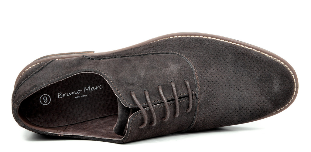 BRUNO-MARC-Fashion-Mens-Suede-Leather-Lace-up-Flats-Casual-Business-Oxford-Shoes thumbnail 55