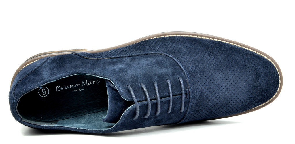 BRUNO-MARC-Fashion-Mens-Suede-Leather-Lace-up-Flats-Casual-Business-Oxford-Shoes thumbnail 59