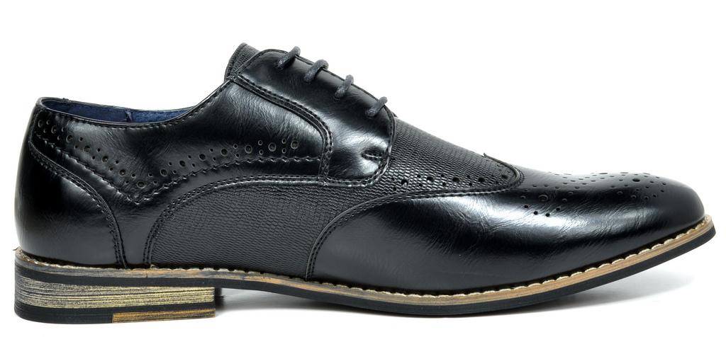 Bruno-Marc-Florence-pour-homme-1-formelle-de-mariage-en-Cuir-Synthetique-Double-derbies-chaussures miniature 6