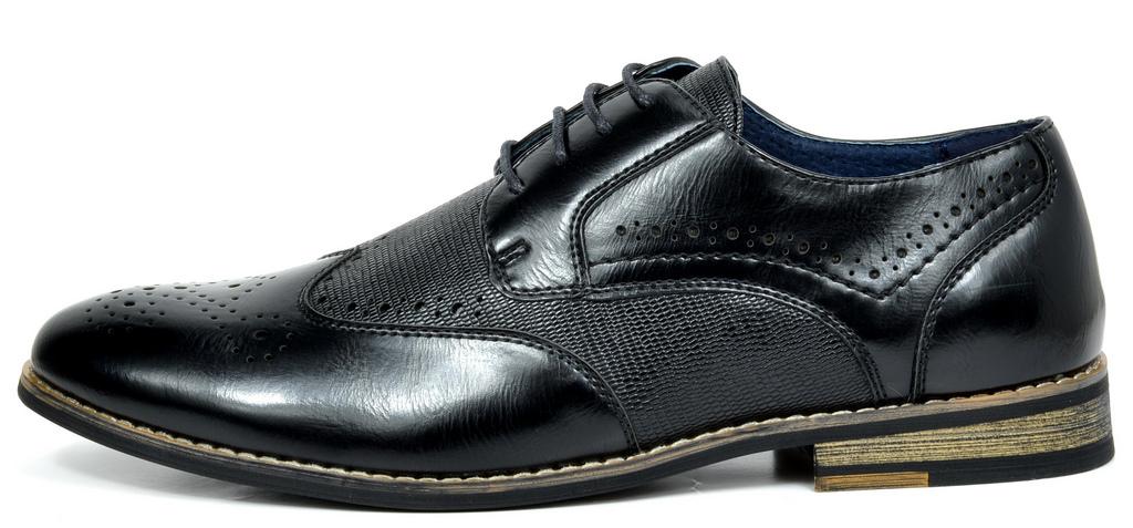 Bruno-Marc-Florence-pour-homme-1-formelle-de-mariage-en-Cuir-Synthetique-Double-derbies-chaussures miniature 5