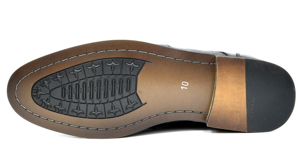 Bruno-Marc-Florence-pour-homme-1-formelle-de-mariage-en-Cuir-Synthetique-Double-derbies-chaussures miniature 10
