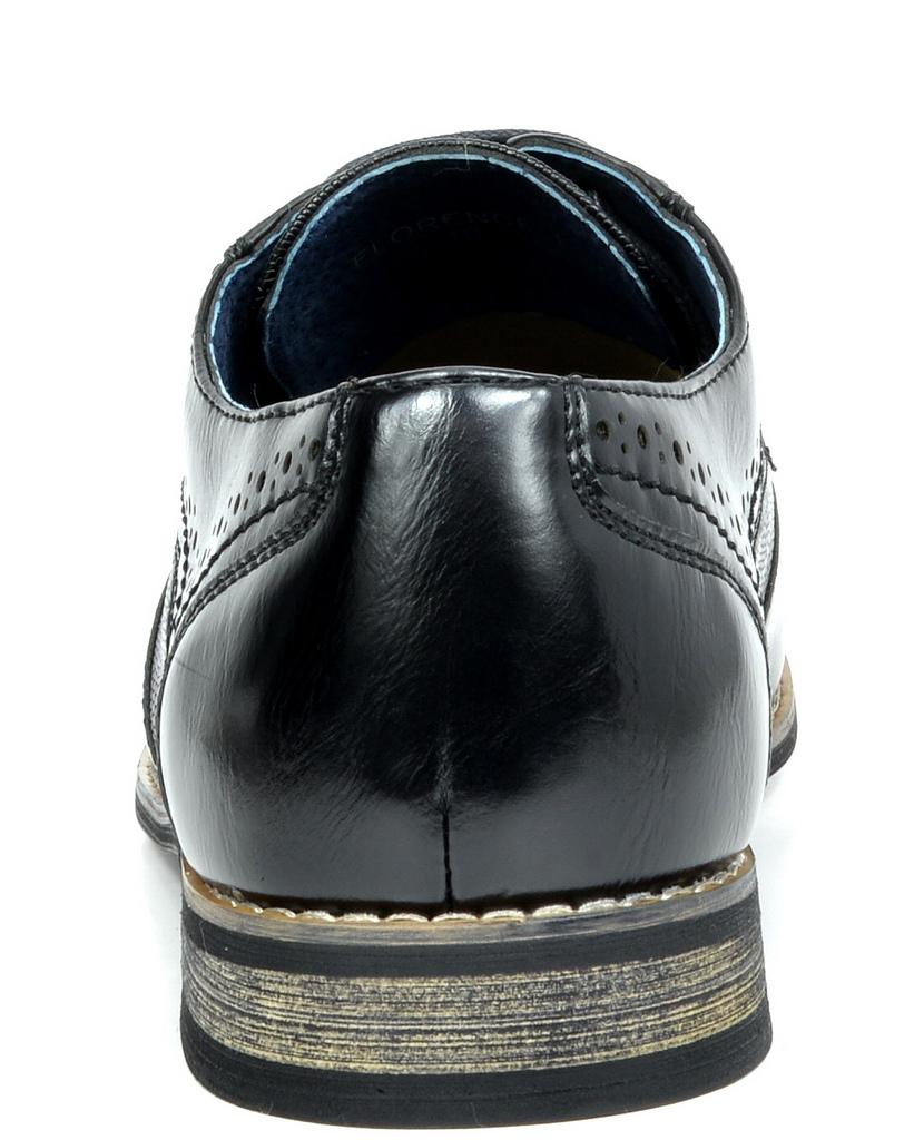 Bruno-Marc-Florence-pour-homme-1-formelle-de-mariage-en-Cuir-Synthetique-Double-derbies-chaussures miniature 8