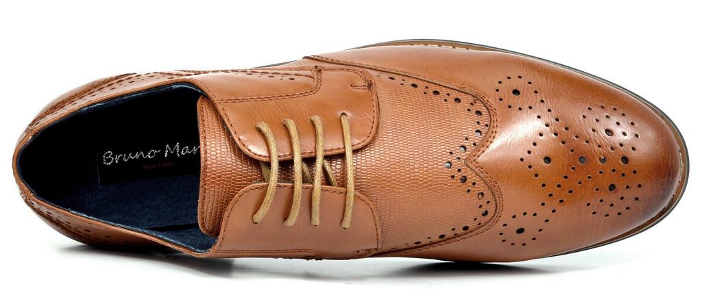 Bruno-Marc-Florence-pour-homme-1-formelle-de-mariage-en-Cuir-Synthetique-Double-derbies-chaussures miniature 16