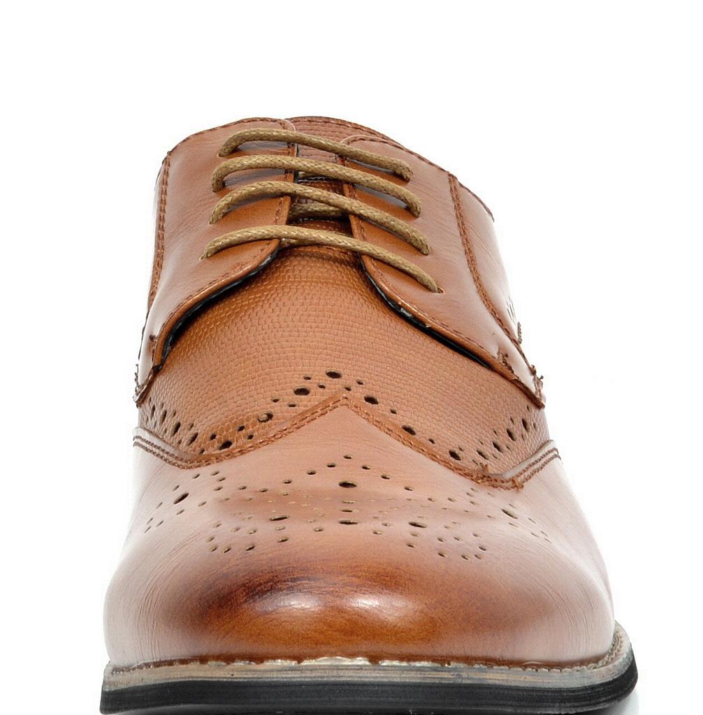 Bruno-Marc-Florence-pour-homme-1-formelle-de-mariage-en-Cuir-Synthetique-Double-derbies-chaussures miniature 14