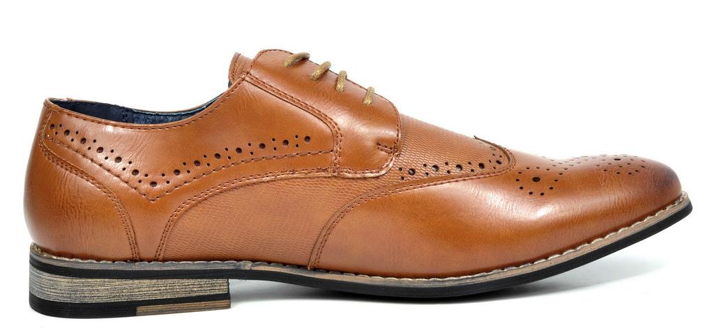 Bruno-Marc-Florence-pour-homme-1-formelle-de-mariage-en-Cuir-Synthetique-Double-derbies-chaussures miniature 13