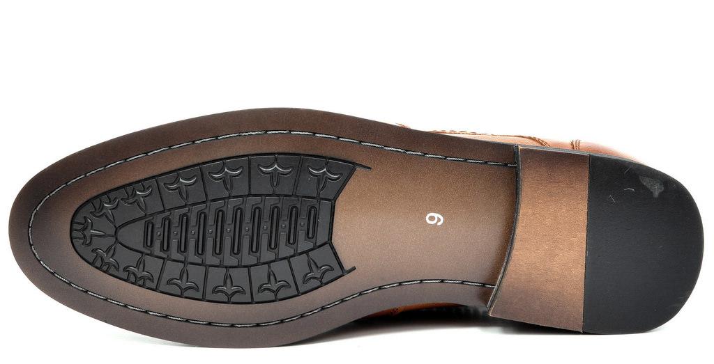 Bruno-Marc-Florence-pour-homme-1-formelle-de-mariage-en-Cuir-Synthetique-Double-derbies-chaussures miniature 17