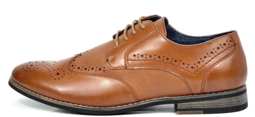 Bruno-Marc-Florence-pour-homme-1-formelle-de-mariage-en-Cuir-Synthetique-Double-derbies-chaussures miniature 12