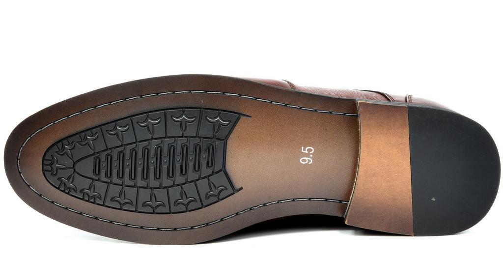 Bruno-Marc-Florence-pour-homme-1-formelle-de-mariage-en-Cuir-Synthetique-Double-derbies-chaussures miniature 24